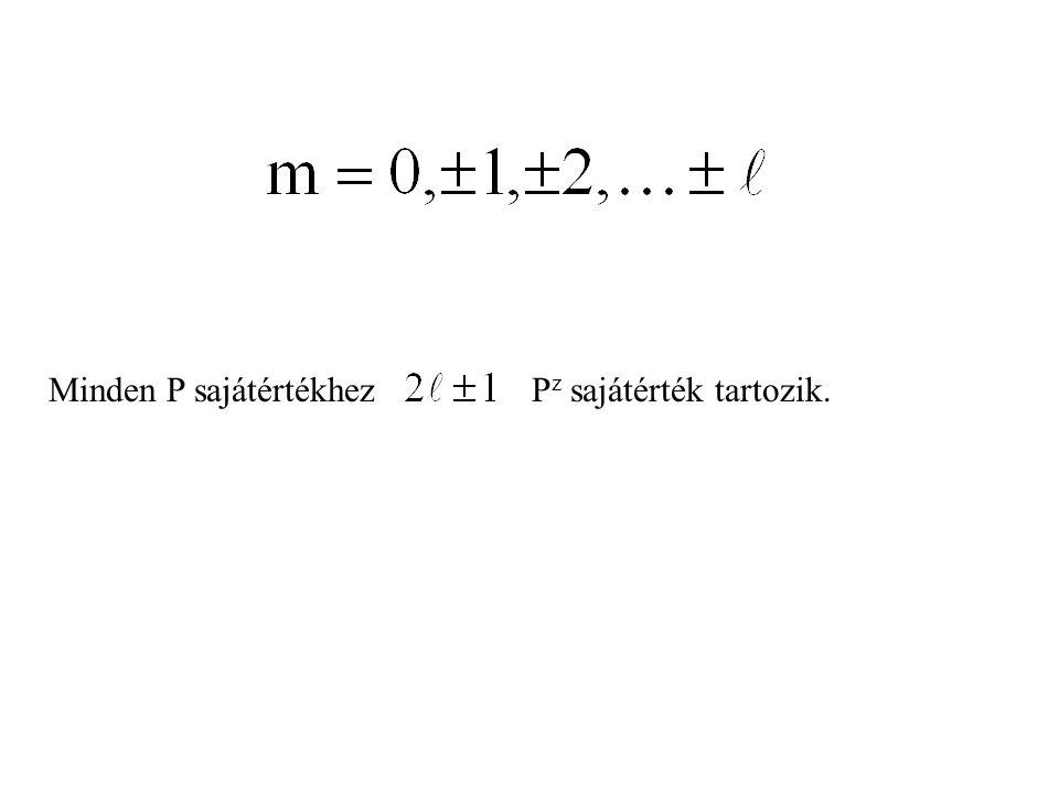 Minden P sajátértékhez Pz sajátérték tartozik.