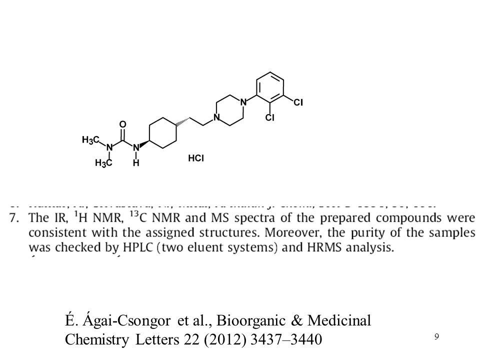 É. Ágai-Csongor et al., Bioorganic & Medicinal Chemistry Letters 22 (2012) 3437–3440