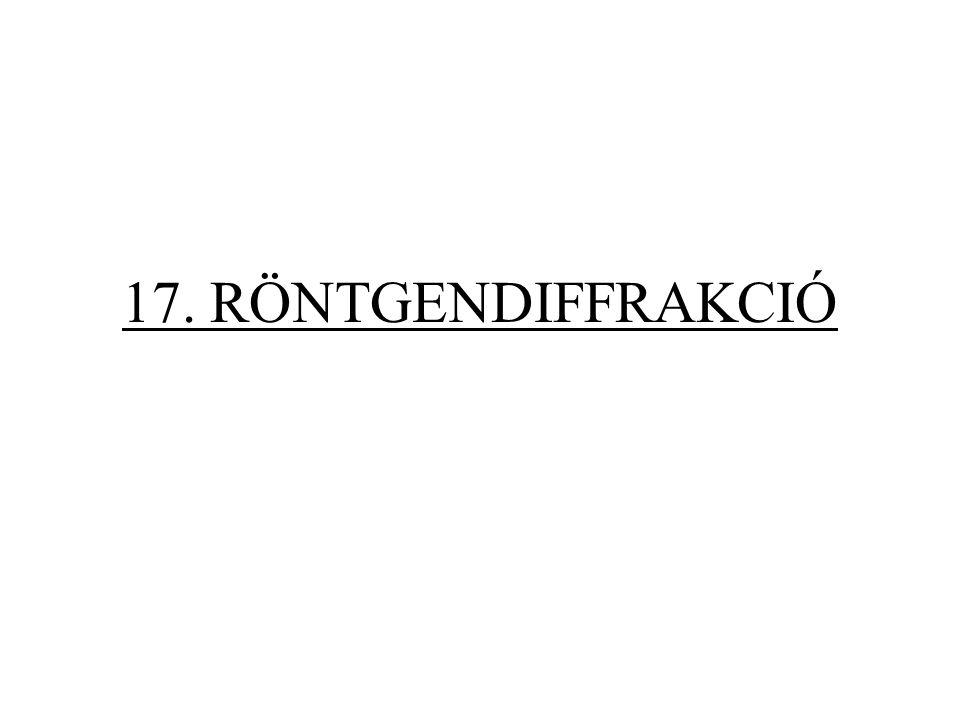 17. RÖNTGENDIFFRAKCIÓ