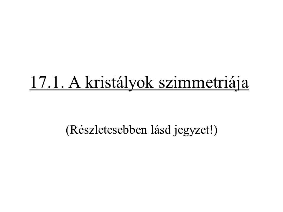17.1. A kristályok szimmetriája