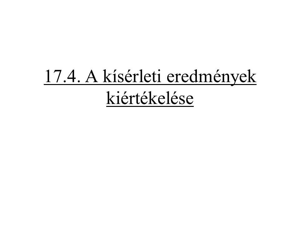 17.4. A kísérleti eredmények kiértékelése