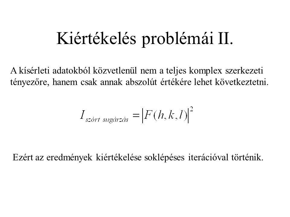 Kiértékelés problémái II.
