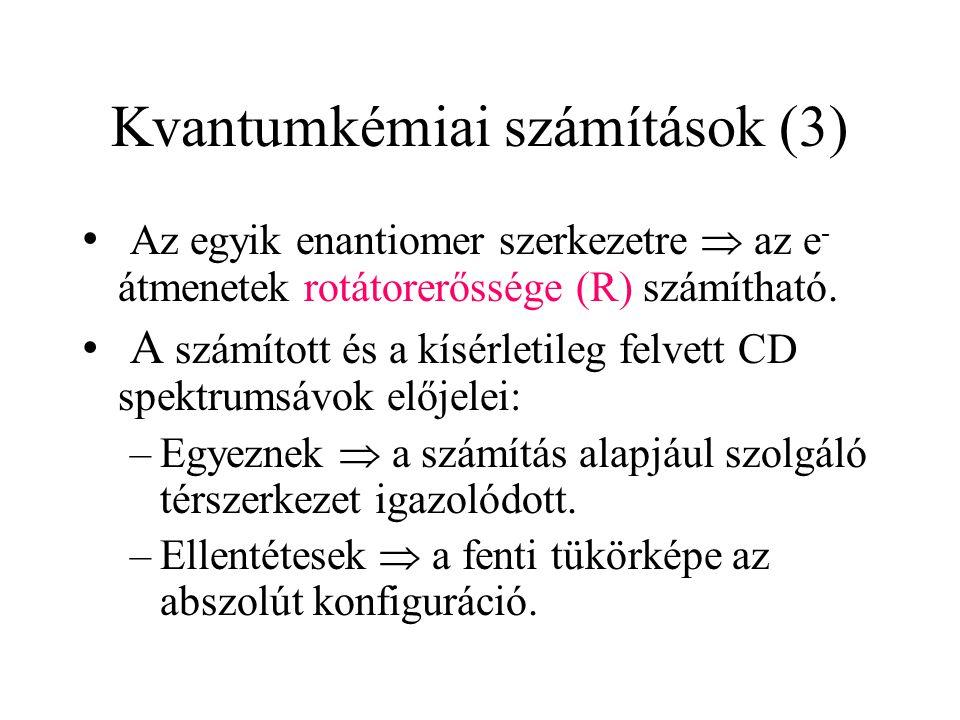 Kvantumkémiai számítások (3)