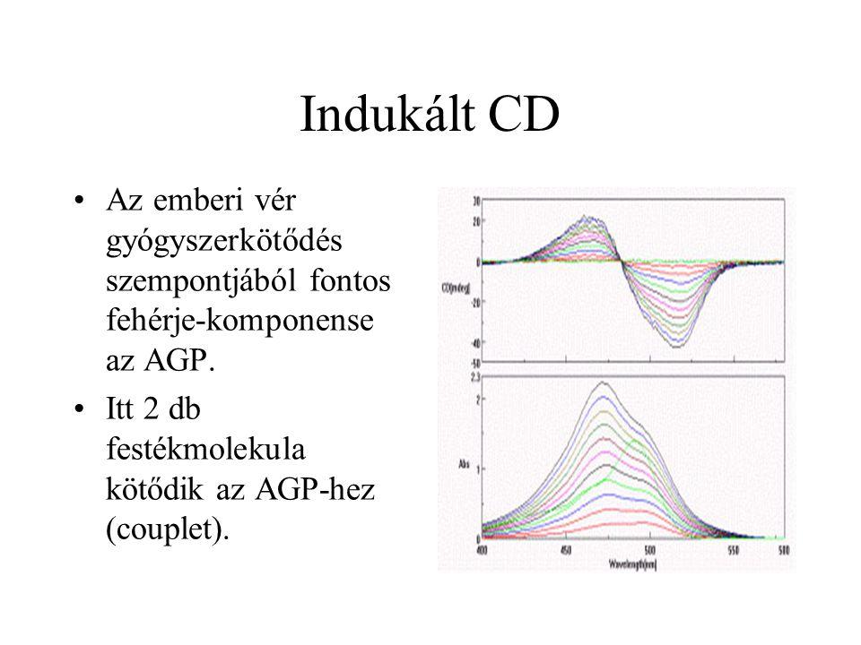 Indukált CD Az emberi vér gyógyszerkötődés szempontjából fontos fehérje-komponense az AGP.