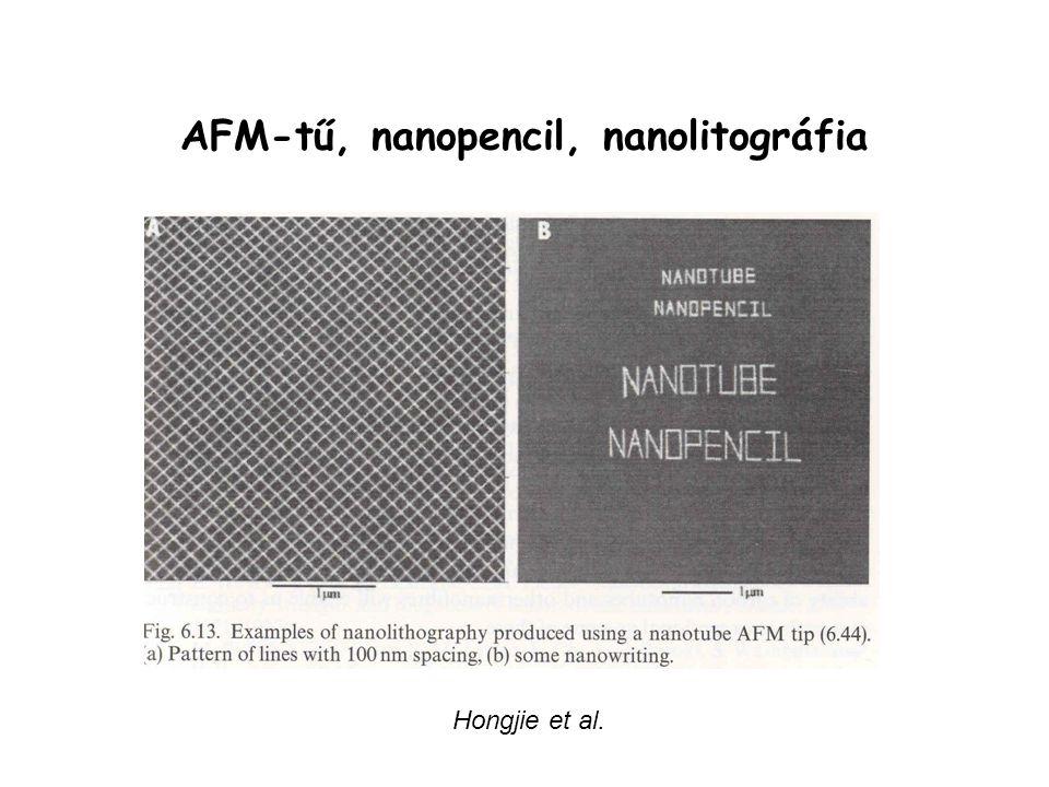 AFM-tű, nanopencil, nanolitográfia