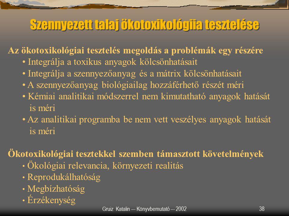 Szennyezett talaj ökotoxikológiia tesztelése