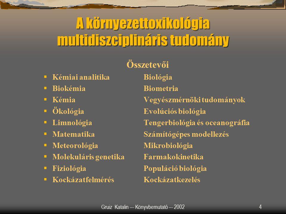 A környezettoxikológia multidiszciplináris tudomány