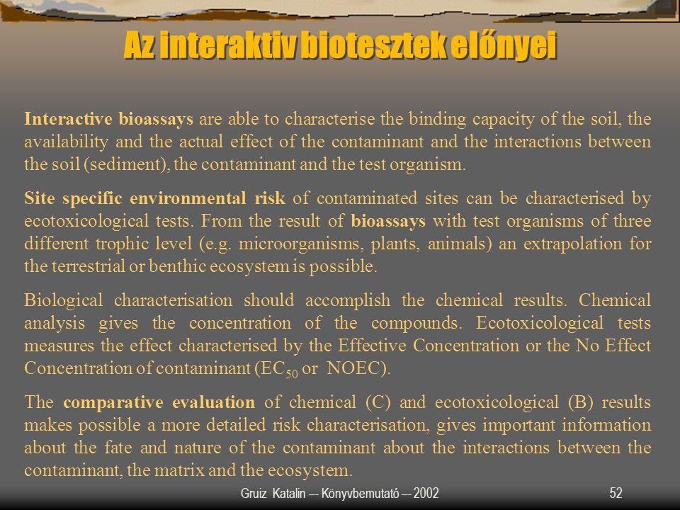 Az interaktiv biotesztek előnyei