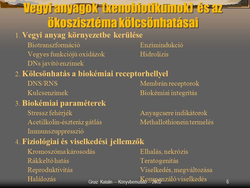 Vegyi anyagok (xenobiotikumok) és az ökoszisztéma kölcsönhatásai