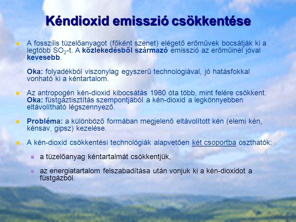 Kéndioxid emisszió csökkentése