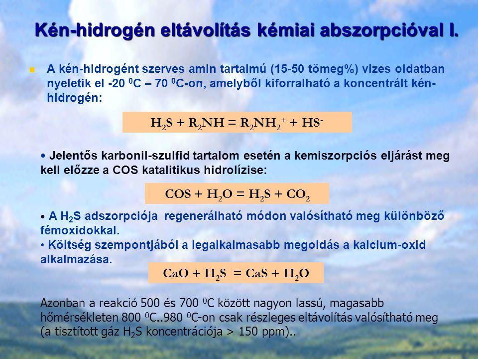 Kén-hidrogén eltávolítás kémiai abszorpcióval I.