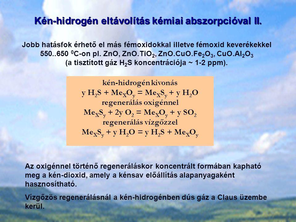Kén-hidrogén eltávolítás kémiai abszorpcióval II.