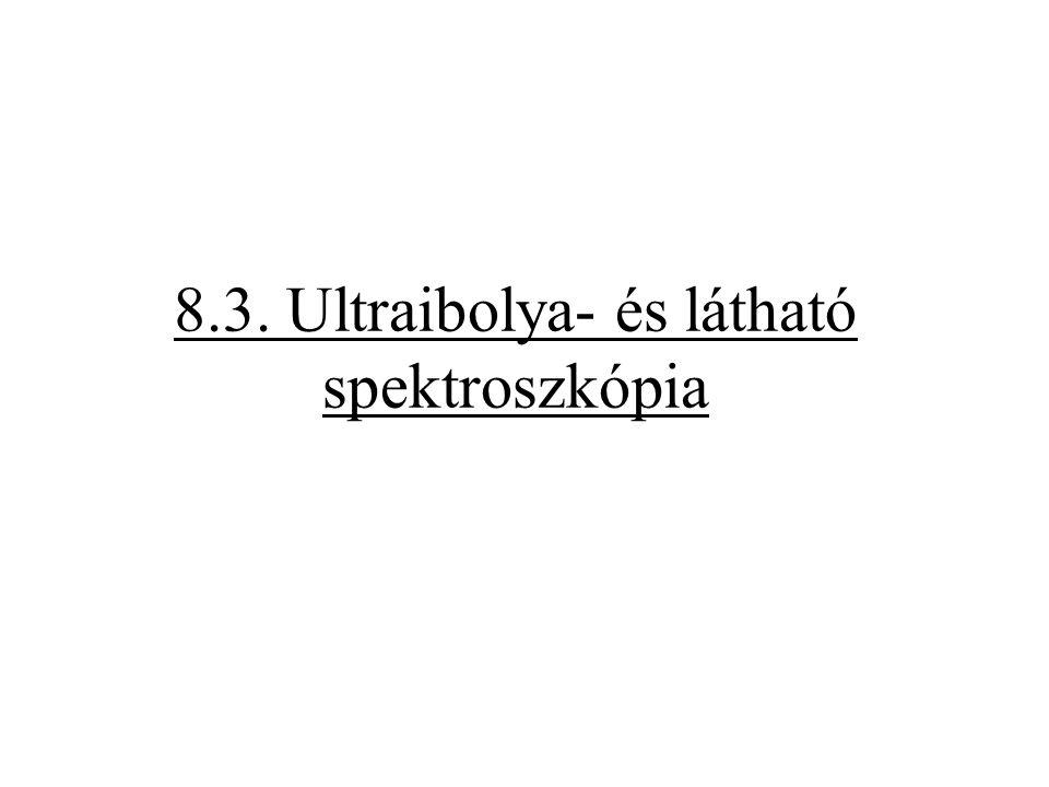8.3. Ultraibolya- és látható spektroszkópia