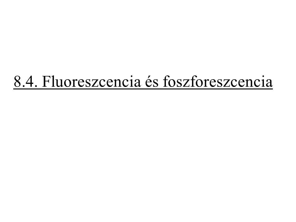 8.4. Fluoreszcencia és foszforeszcencia