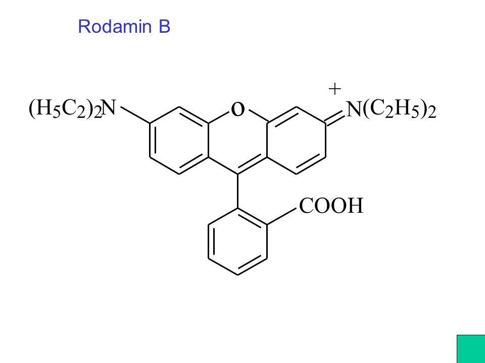 Rodamin B + o (H C ) N N (C H ) 5 2 2 2 5 2 COOH