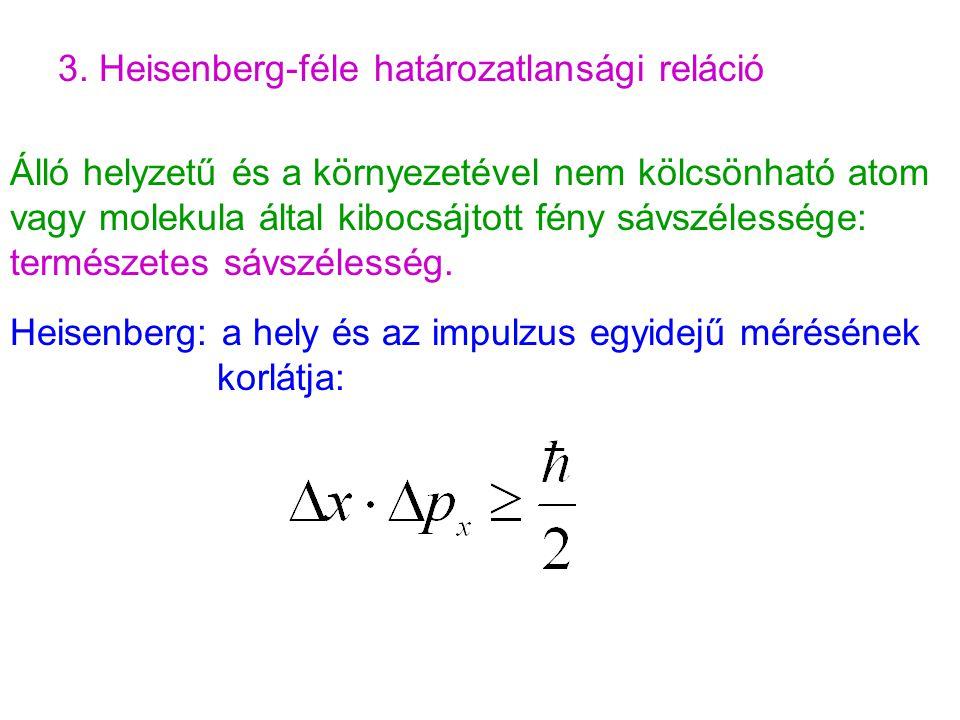3. Heisenberg-féle határozatlansági reláció