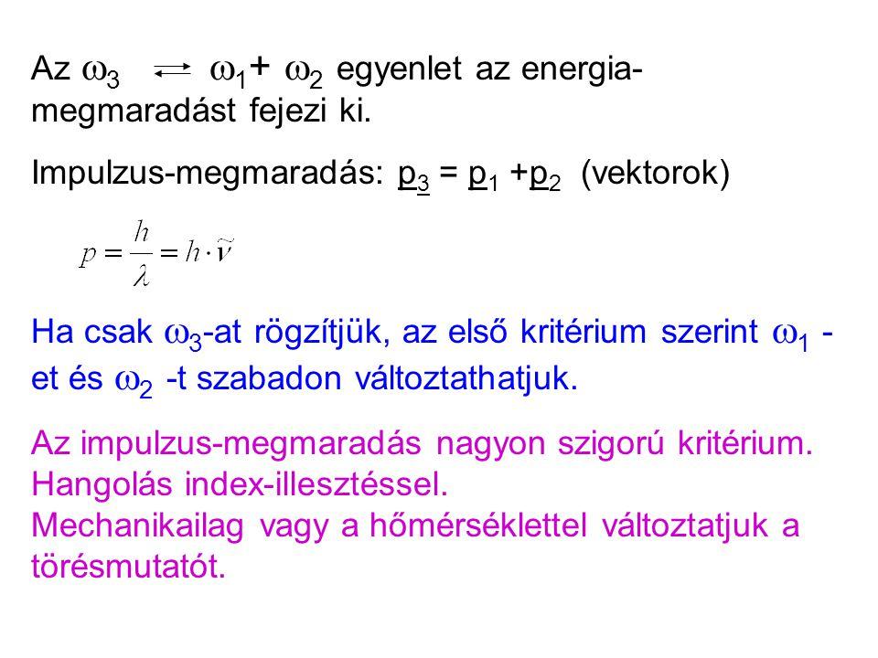 Az 3 1+ 2 egyenlet az energia-megmaradást fejezi ki.
