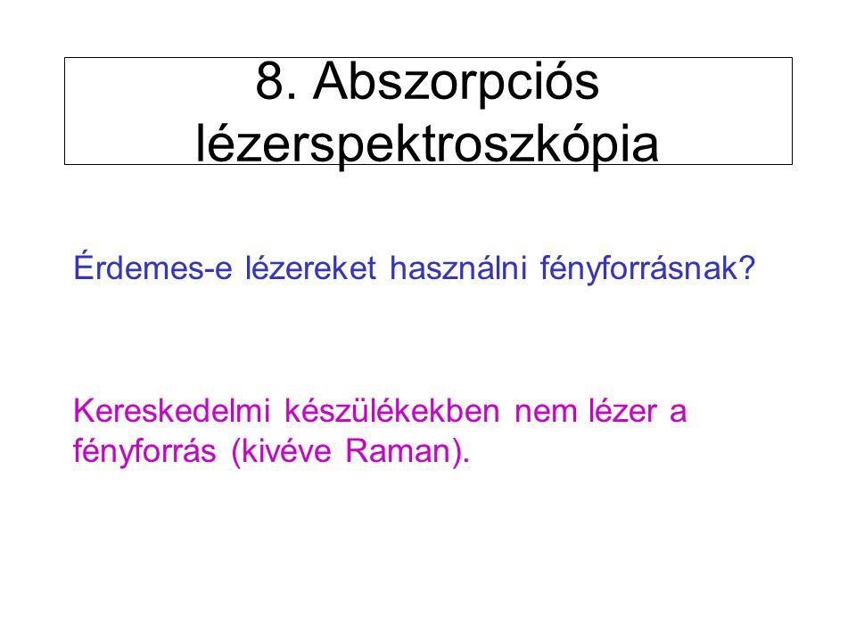 8. Abszorpciós lézerspektroszkópia