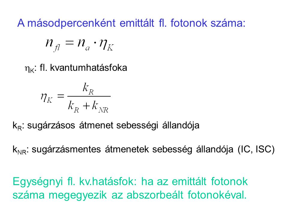 A másodpercenként emittált fl. fotonok száma: