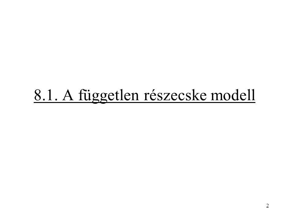 8.1. A független részecske modell