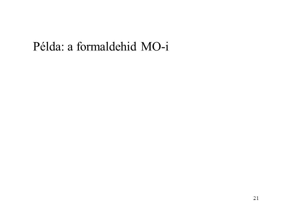 Példa: a formaldehid MO-i