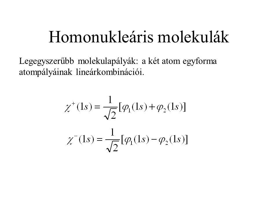 Homonukleáris molekulák