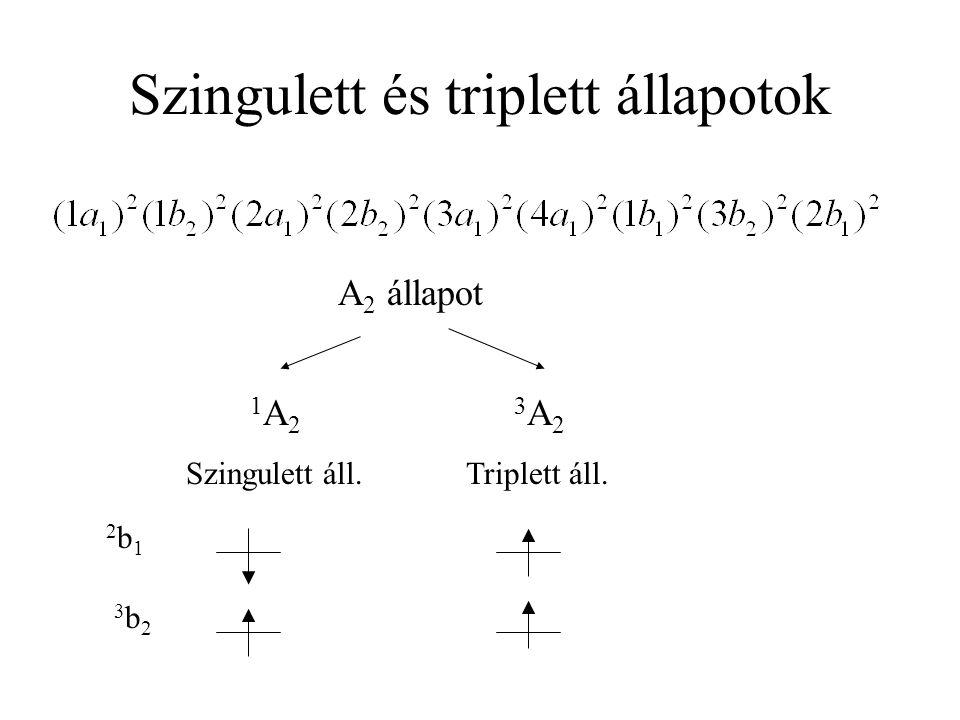 Szingulett és triplett állapotok