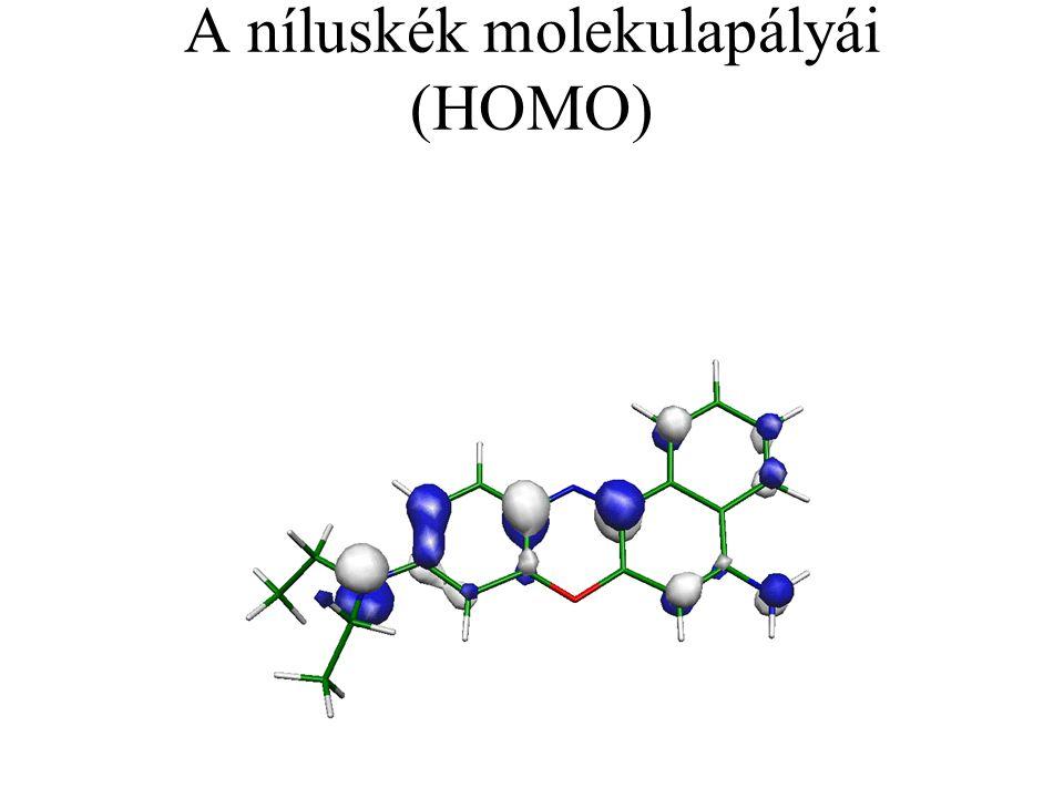 A níluskék molekulapályái (HOMO)