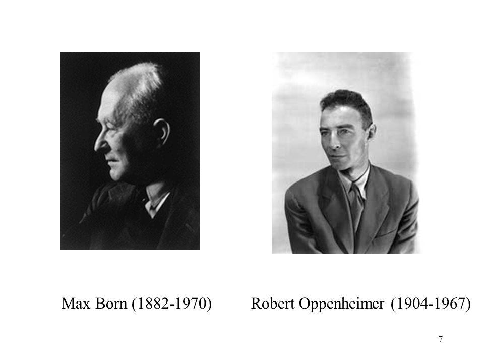 Max Born (1882-1970) Robert Oppenheimer (1904-1967)