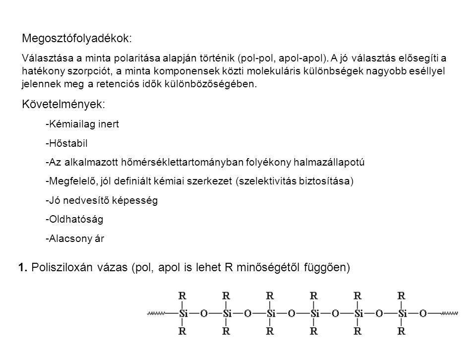 1. Polisziloxán vázas (pol, apol is lehet R minőségétől függően)