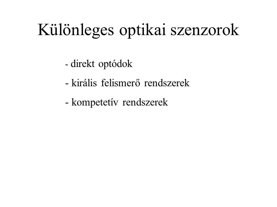 Különleges optikai szenzorok
