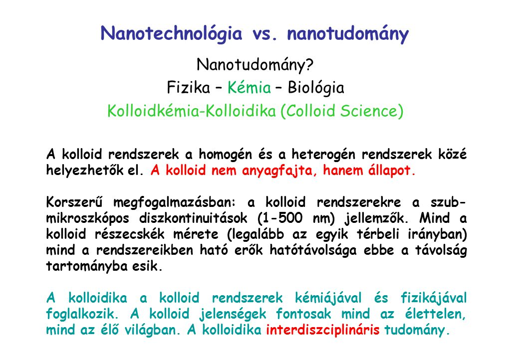 Nanotechnológia vs. nanotudomány