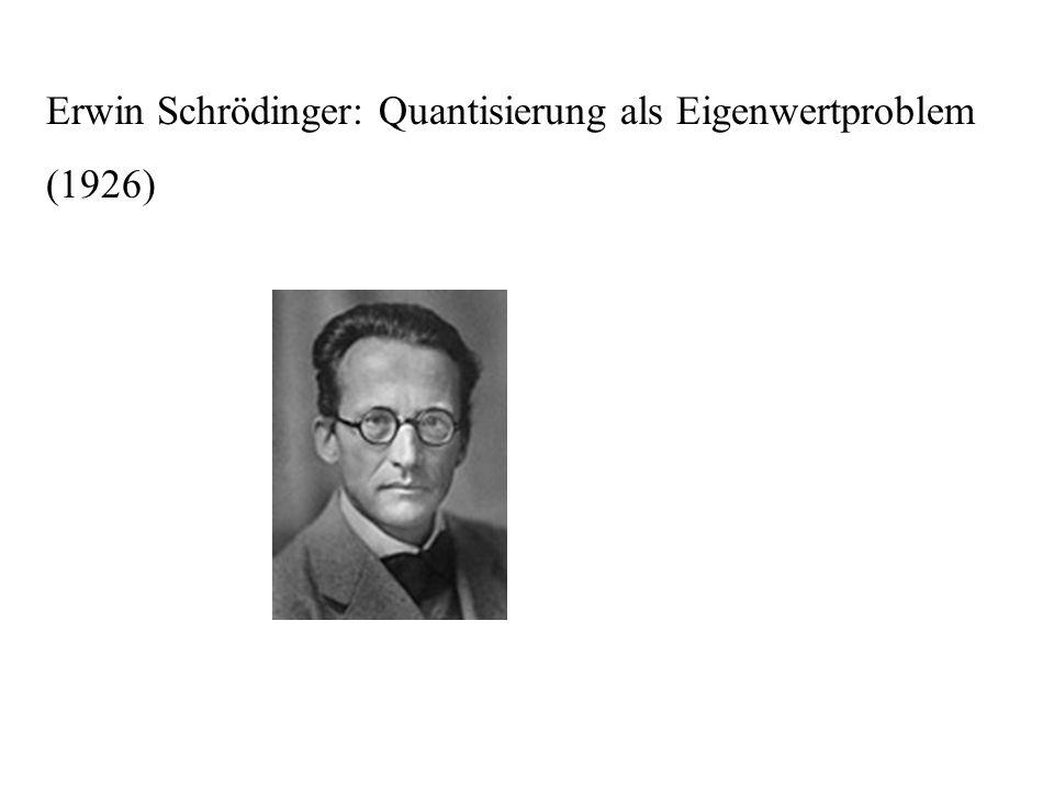 Erwin Schrödinger: Quantisierung als Eigenwertproblem