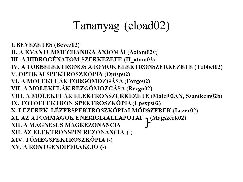 Tananyag (eload02) I. BEVEZETÉS (Bevez02)