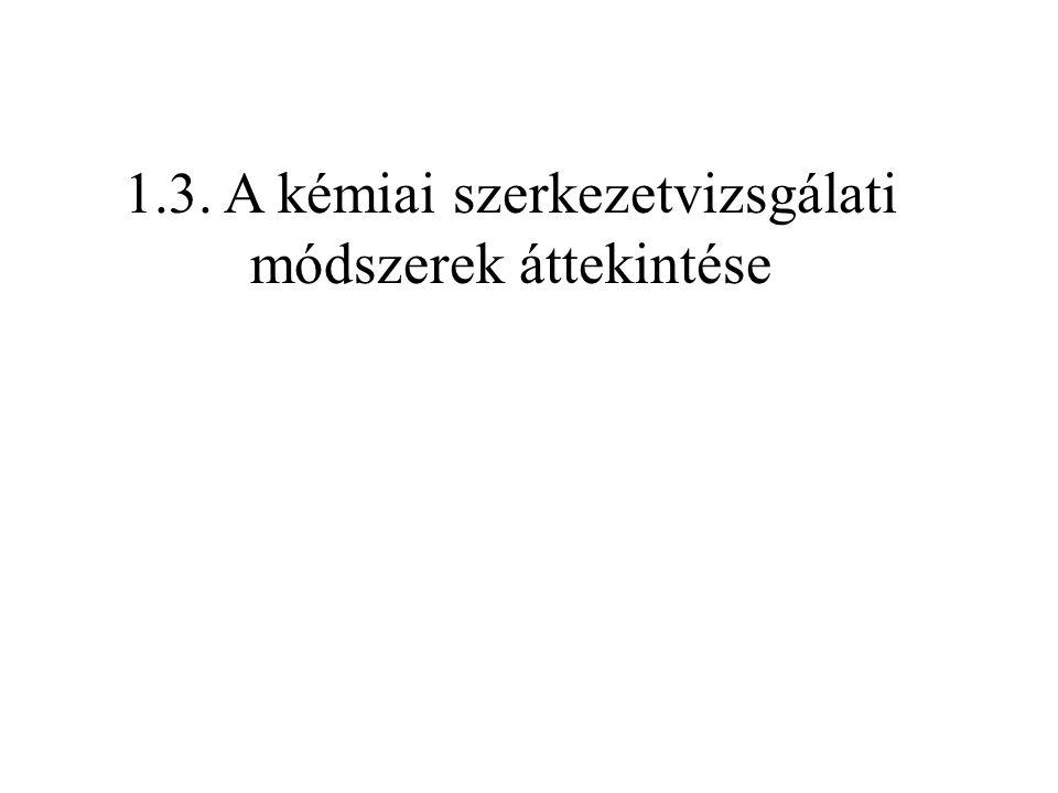 1.3. A kémiai szerkezetvizsgálati módszerek áttekintése