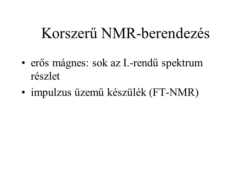Korszerű NMR-berendezés