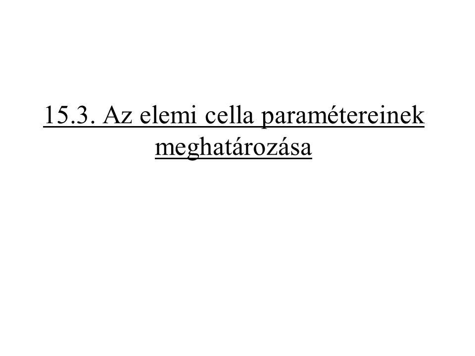 15.3. Az elemi cella paramétereinek meghatározása