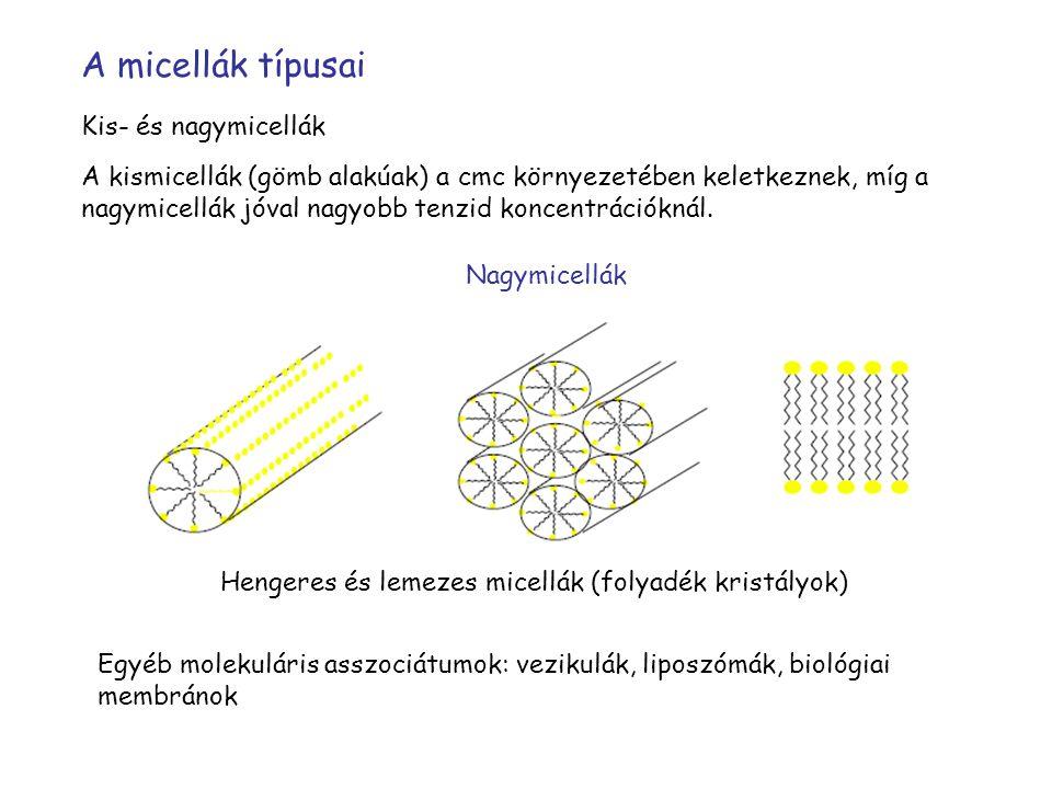 Hengeres és lemezes micellák (folyadék kristályok)