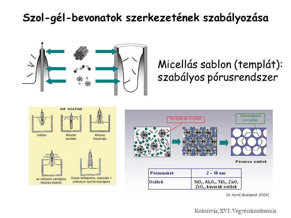 Szol-gél-bevonatok szerkezetének szabályozása