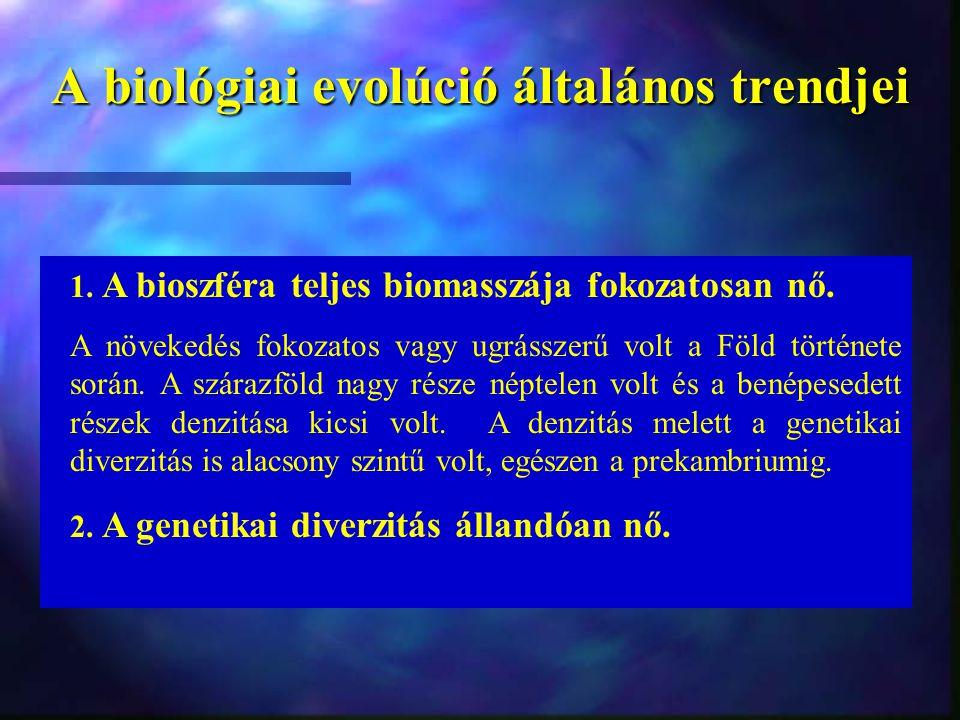 A biológiai evolúció általános trendjei