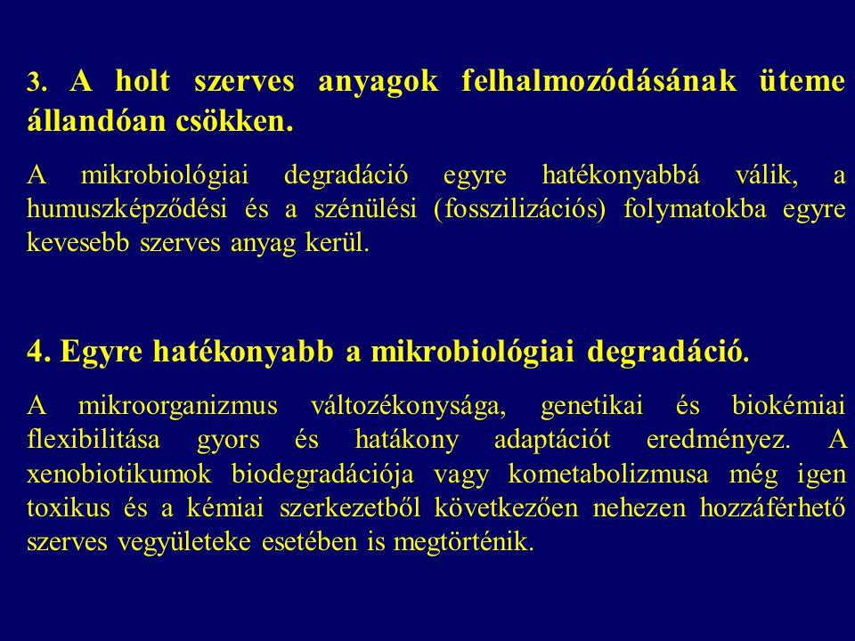 4. Egyre hatékonyabb a mikrobiológiai degradáció.