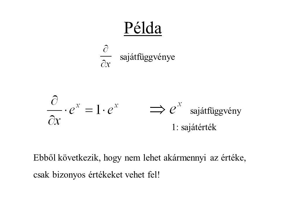 Példa sajátfüggvénye sajátfüggvény 1: sajátérték