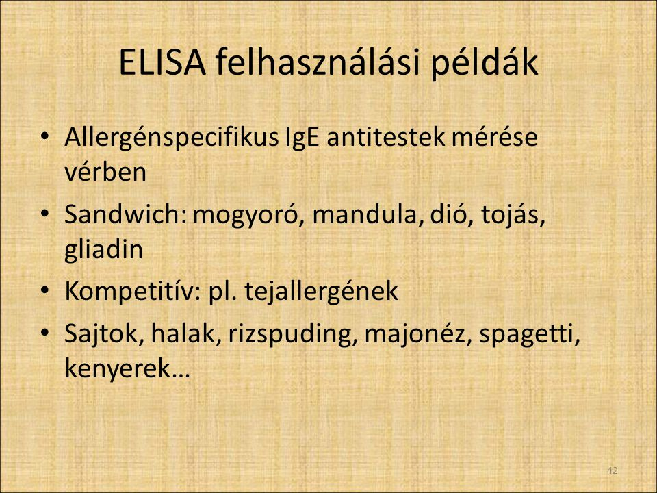 ELISA felhasználási példák