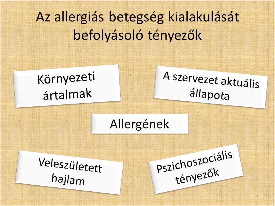 Az allergiás betegség kialakulását befolyásoló tényezők