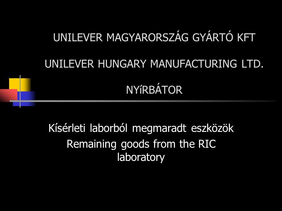 Kísérleti laborból megmaradt eszközök