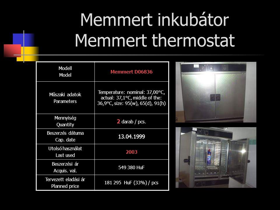 Memmert inkubátor Memmert thermostat