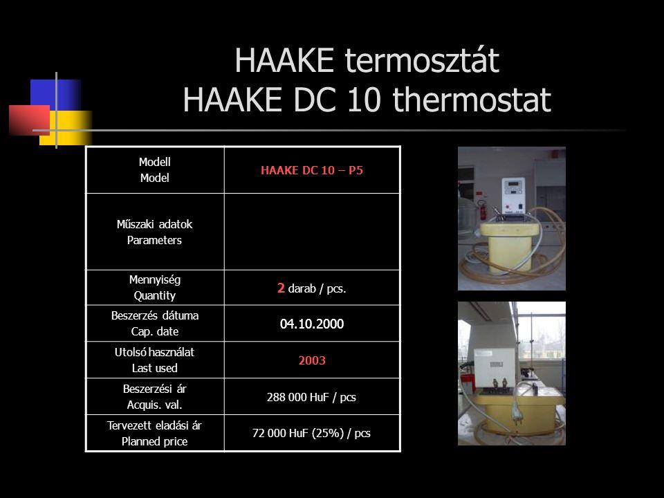 HAAKE termosztát HAAKE DC 10 thermostat