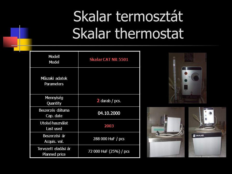 Skalar termosztát Skalar thermostat
