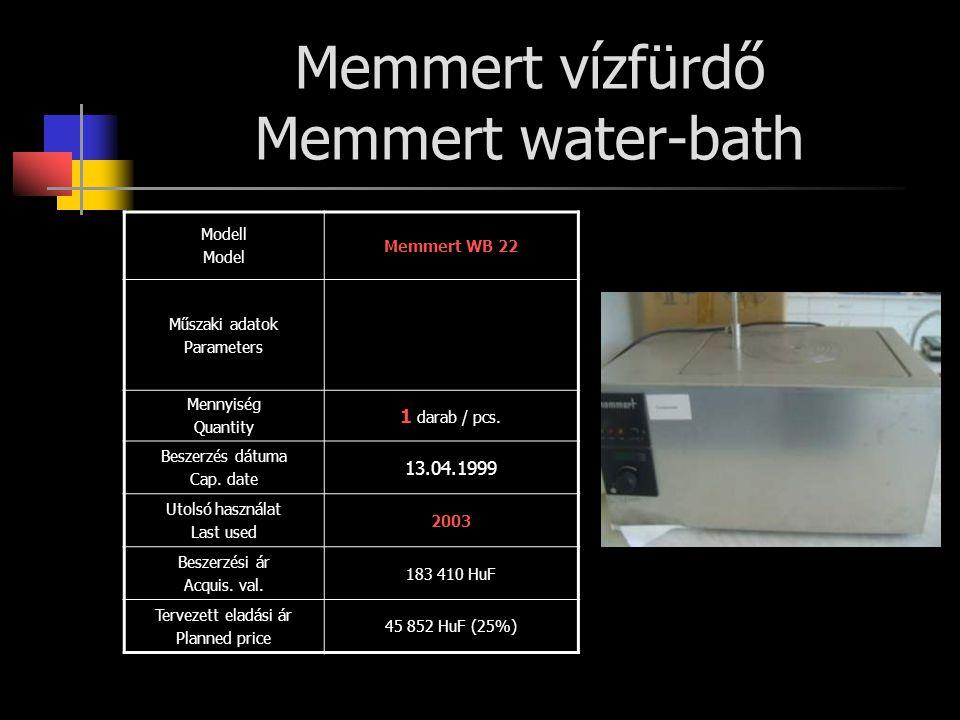 Memmert vízfürdő Memmert water-bath