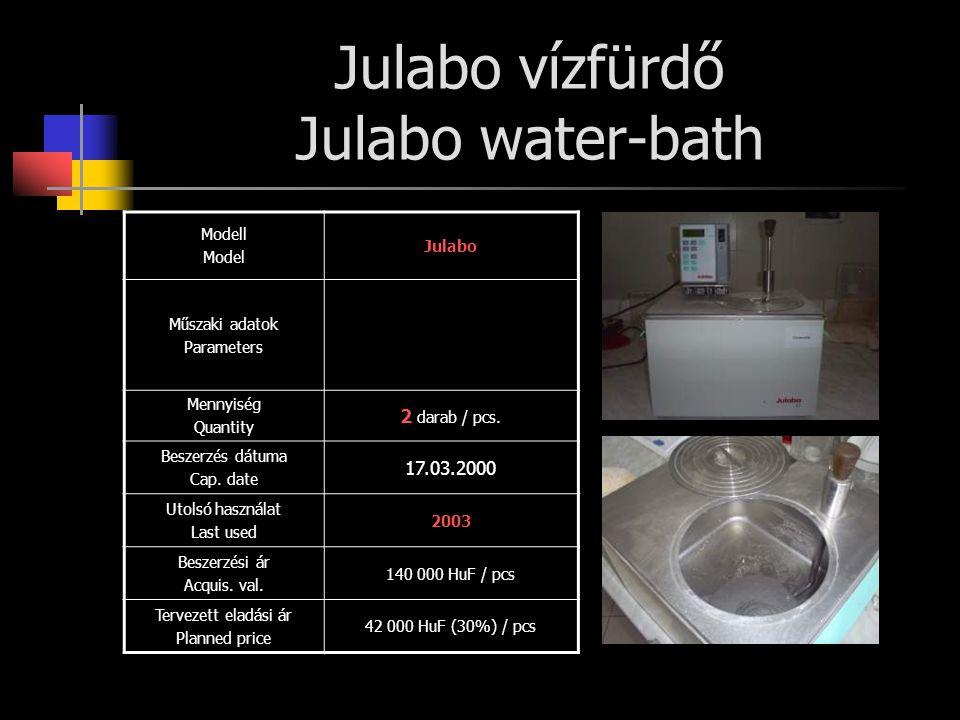 Julabo vízfürdő Julabo water-bath